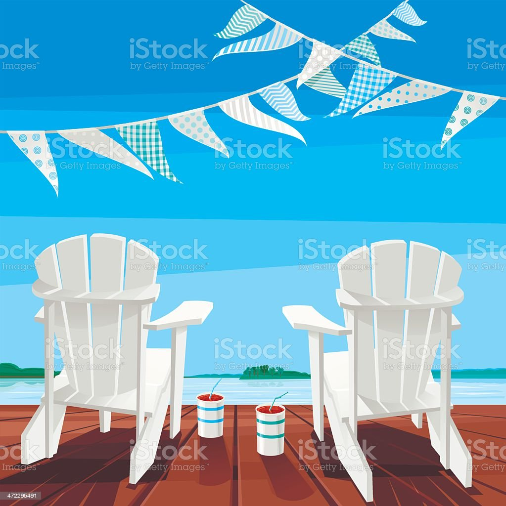 Cottage Life Background royalty-free stock vector art