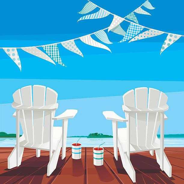 Cottage Life Background vector art illustration