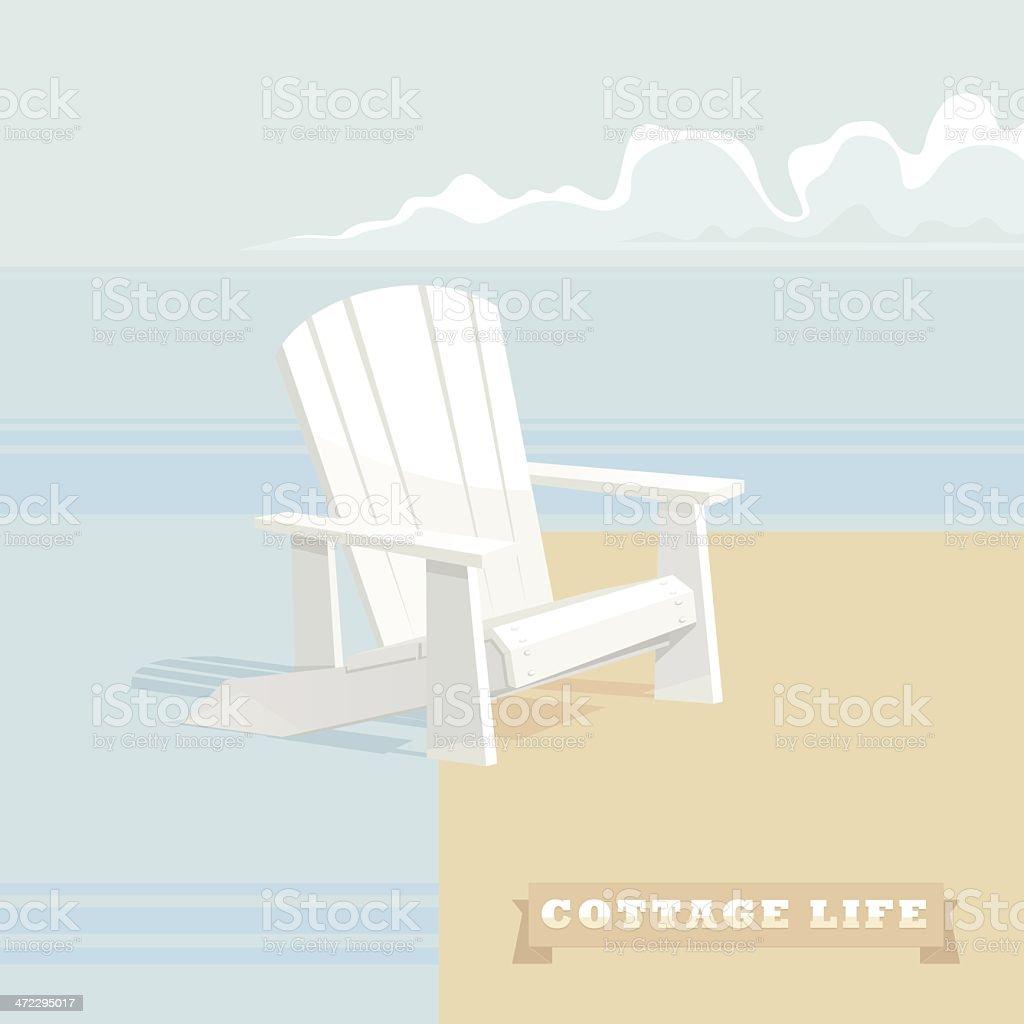 Cottage Life vector art illustration
