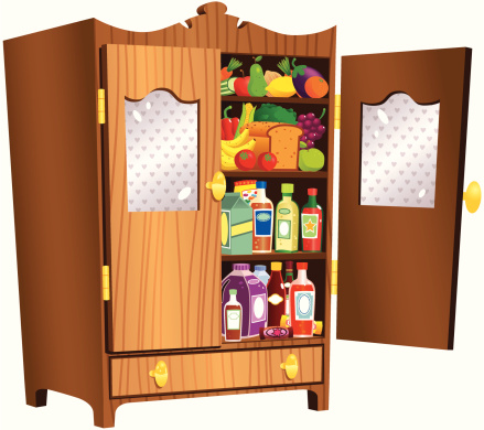Cottage style food cupboard