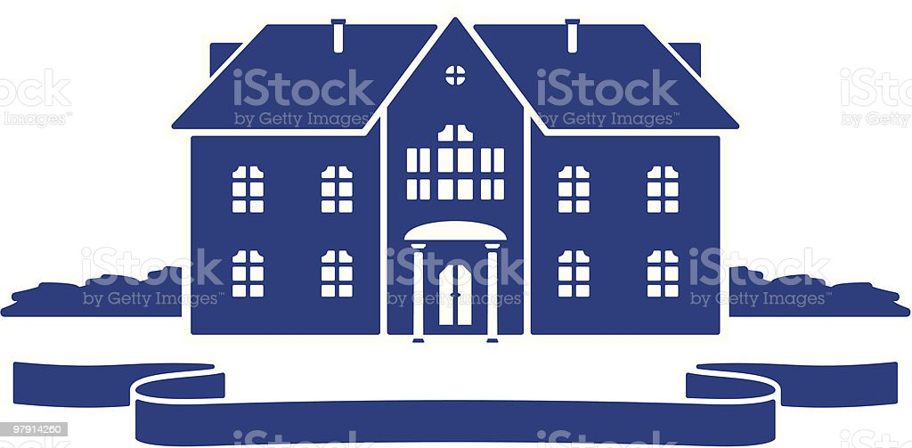Cottage royalty-free stock vector art