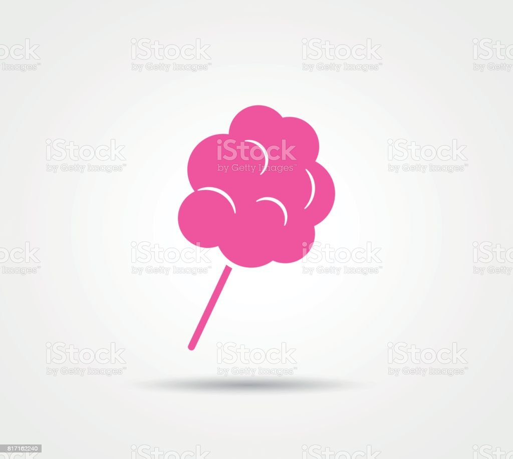 cotton candy on white background vector art illustration