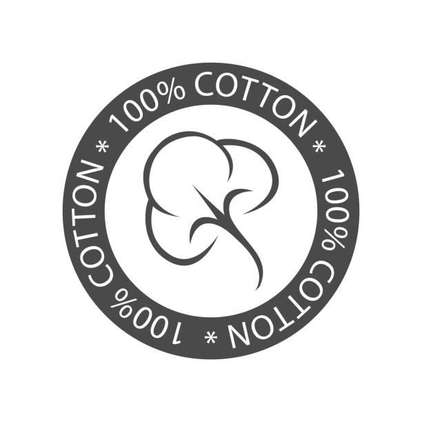 100 % Baumwolle-Symbol – Vektorgrafik