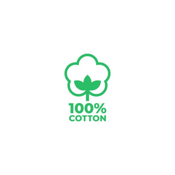 100% cotton icon. Vector illustration 100% cotton icon. Vector illustration cotton stock illustrations