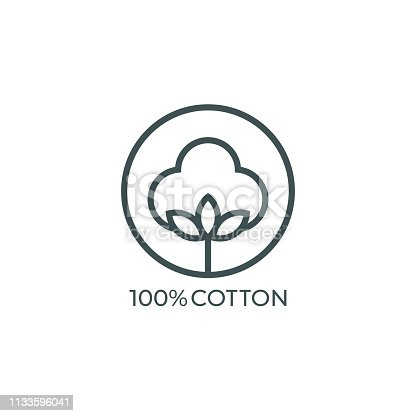 100% cotton icon. Vector illustration