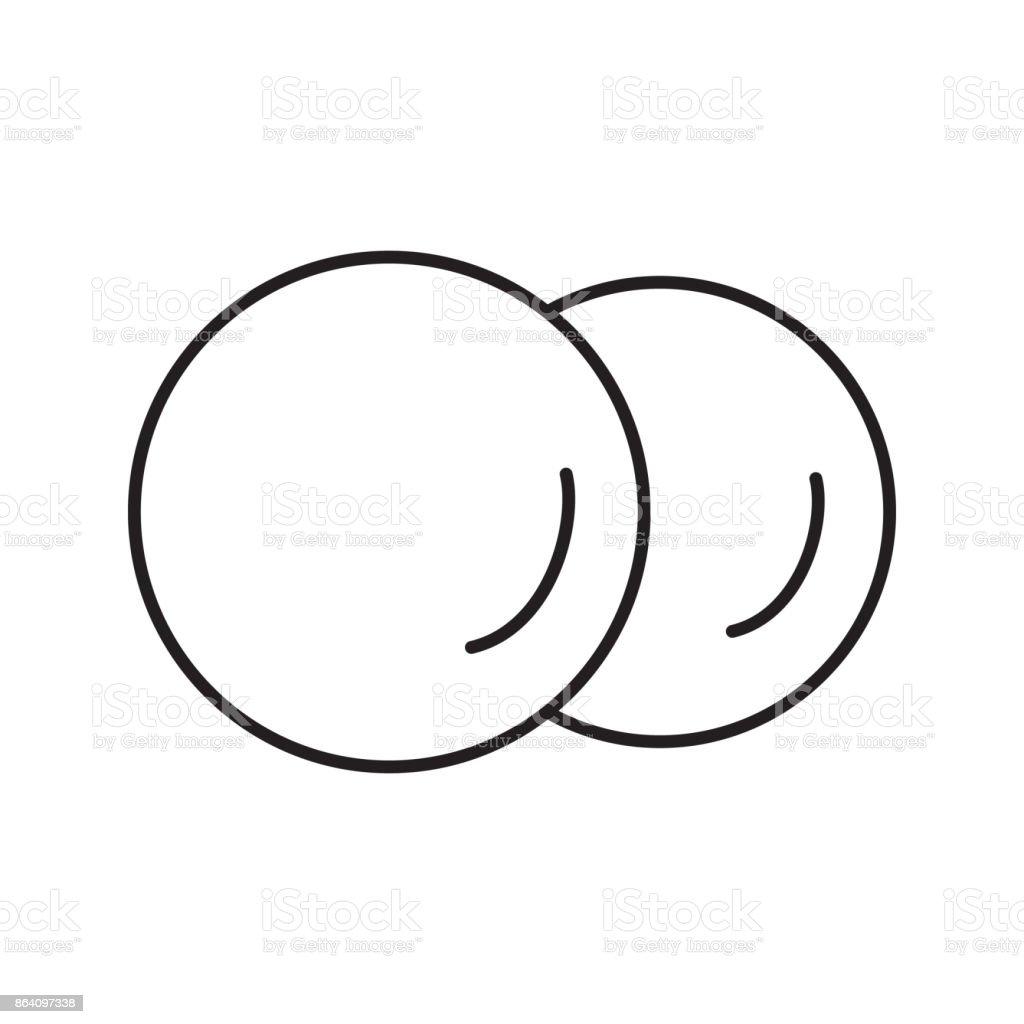 Cotton pads icon
