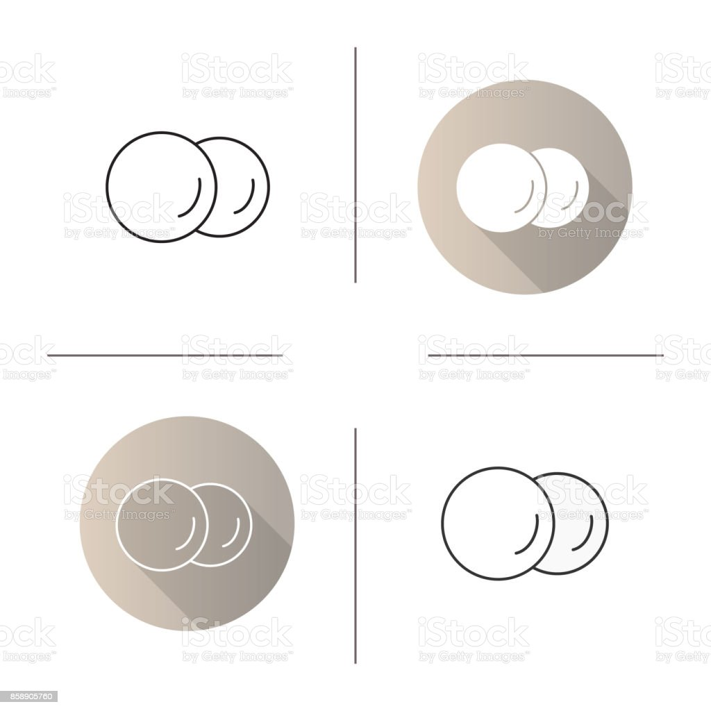 Cotton pads icons