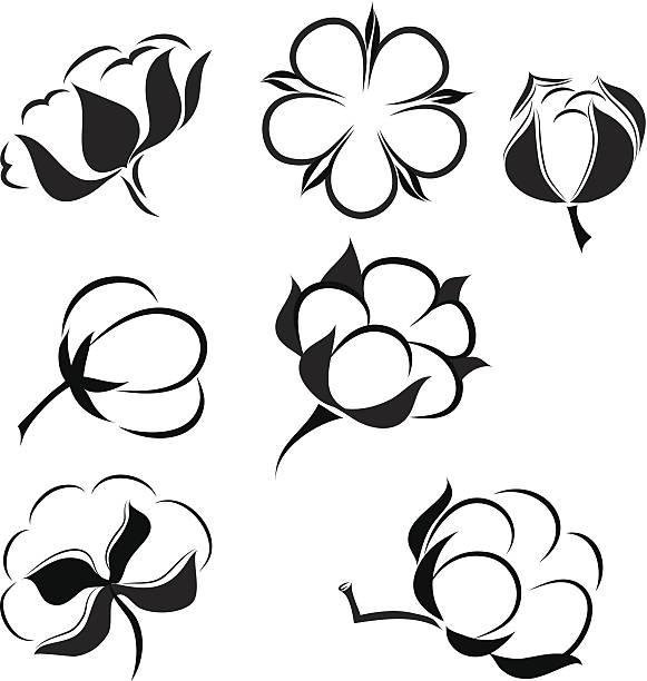 cotton - cotton stock illustrations, clip art, cartoons, & icons