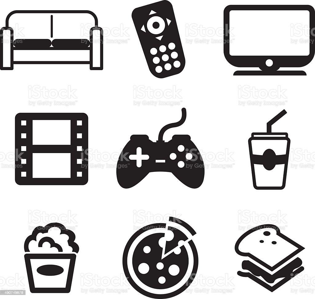 Couchpotato Icons vector art illustration