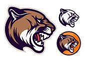 istock Cougar head emblem 1193031826