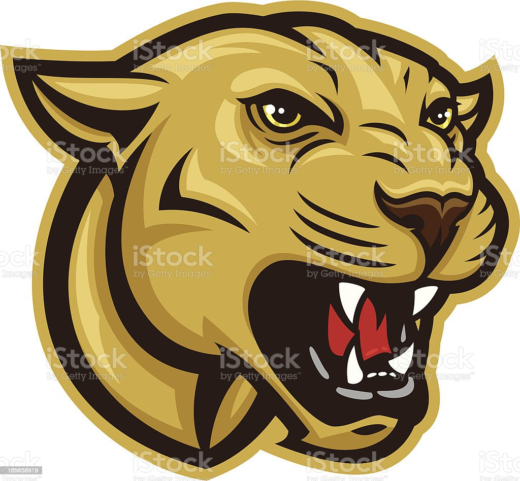 Cougar Head vector art illustration