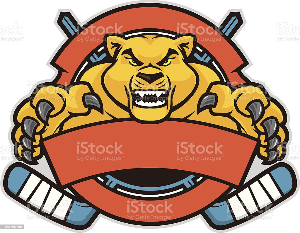 Cougar Hockey Design royalty-free cougar hockey design stock vector art & more images of aggression