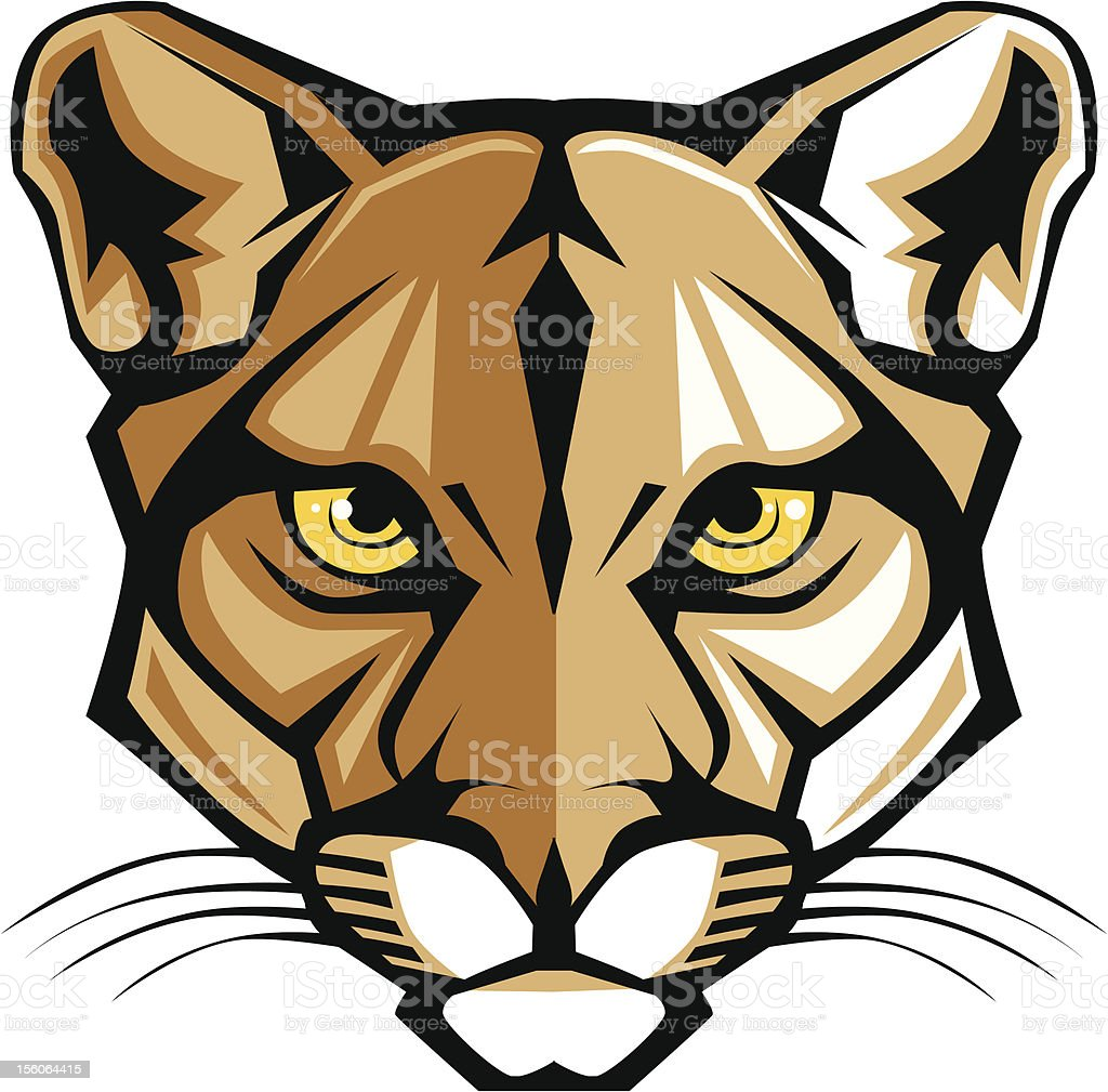 Cougar Panther Mascot Head Vector Graphic vector art illustration