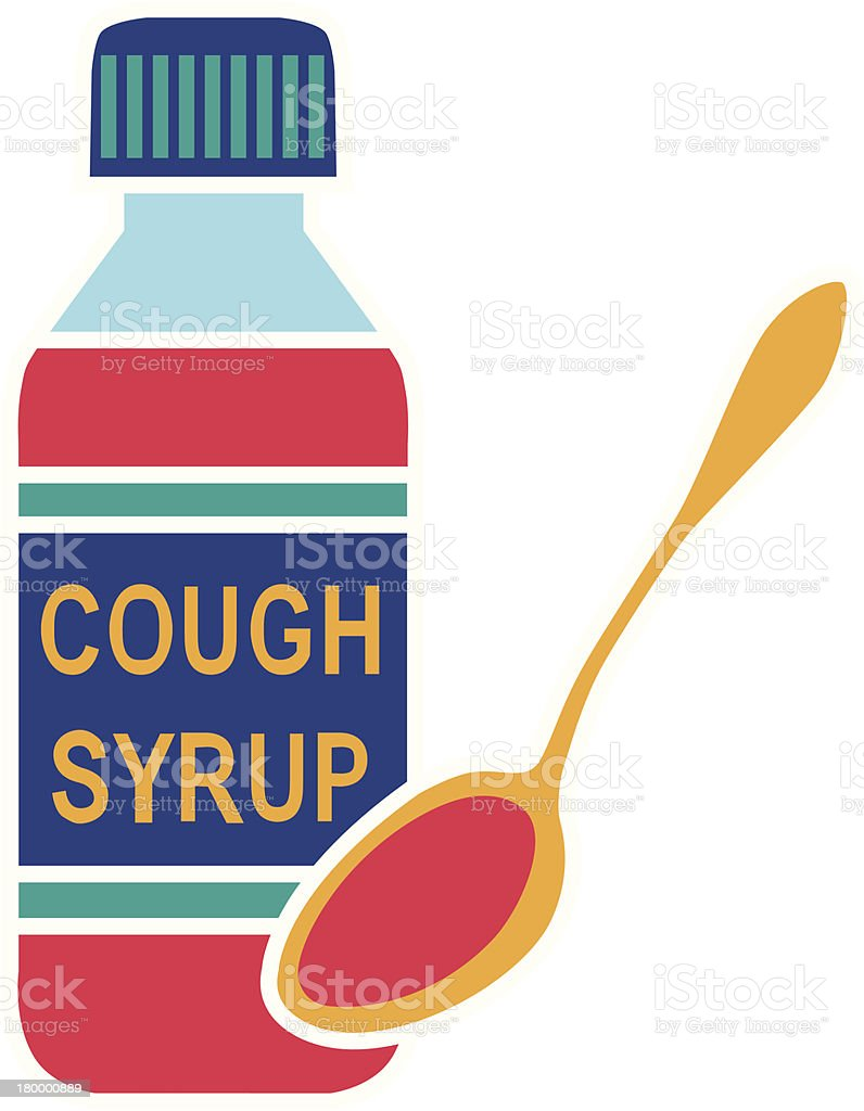 cough syrup royalty-free stock vector art