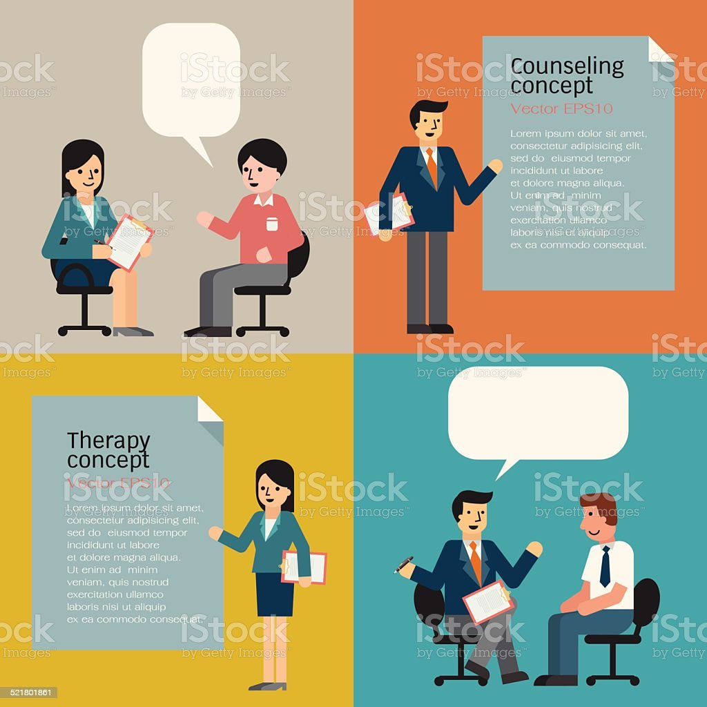 Counseling vector art illustration