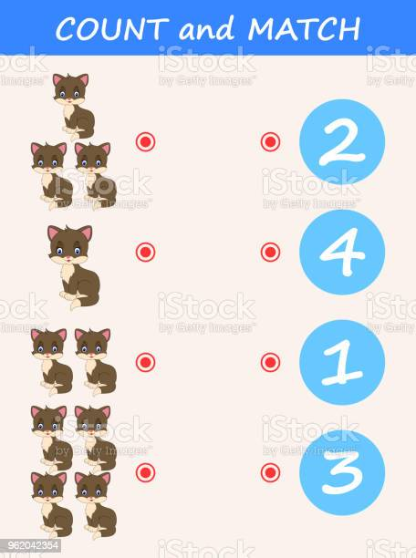 Count and match cat cartoon math educational game for children vector id962042354?b=1&k=6&m=962042354&s=612x612&h=edlizc71xgsvivbedsffcm0brvsyr8 bmpt io1sjqw=
