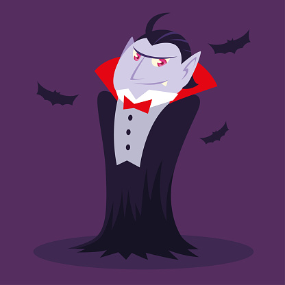 count dracula or vampire for halloween