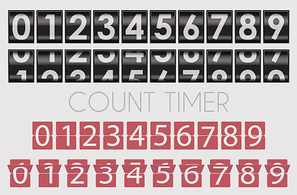 Count timer Count timer counting stock illustrations