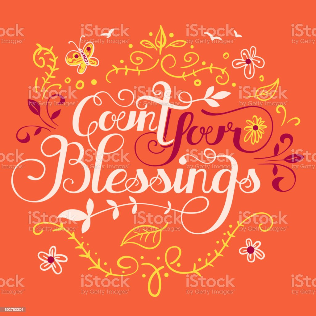 Count your blessings illustration vector art illustration