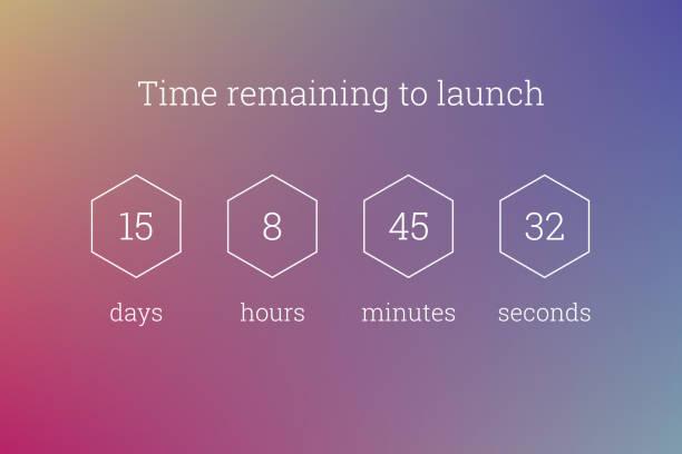 Countdown clock timer web site template vector design vector art illustration