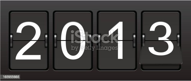 Vector countdown clock.