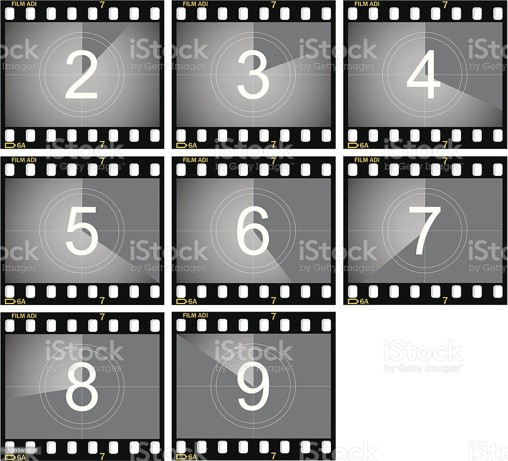Countdown Film Frames royalty-free countdown film frames stock vector art & more images of activity