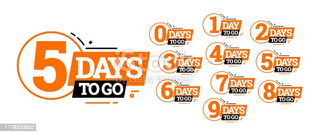 istock Countdown left days banner. count time sale. 1178533652