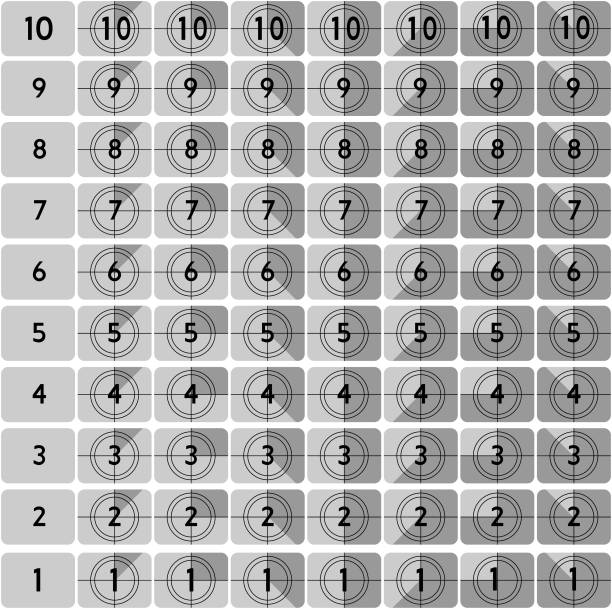 Countdown markers vector art illustration