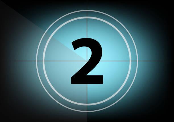 Countdown number two Countdown number two gezond stock illustrations