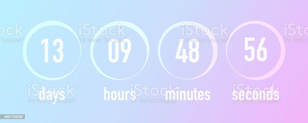 countdown template ui web design vector illustration blurred