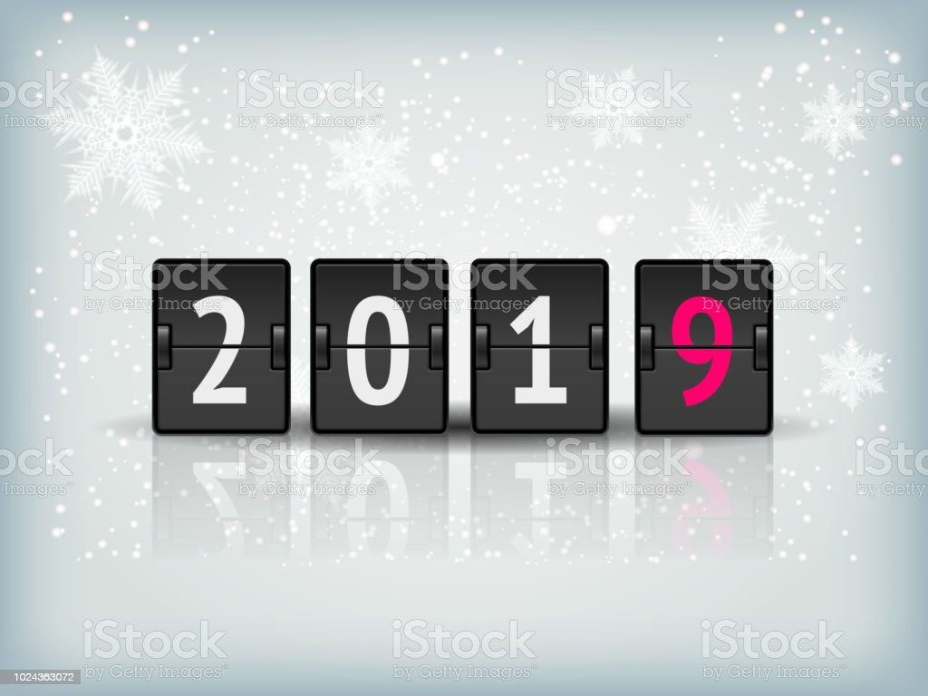 Countdown Timer 2019 For New Year Design Vector Stock Vector Art