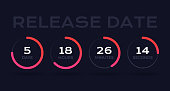 Count down timer circles information.