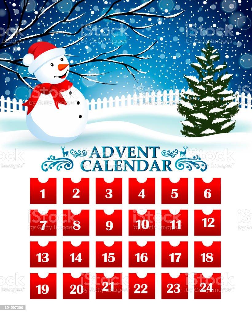 Compte à rebours de Noël - clipart vectoriel de Abstrait libre de droits