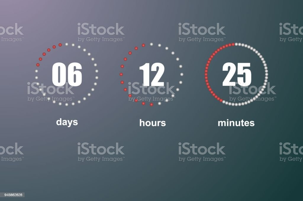 Countdown vector template vector art illustration
