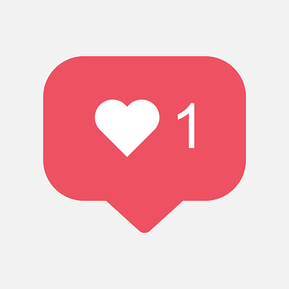 Counter, follower notification symbol instagram. Buton for social media clipart