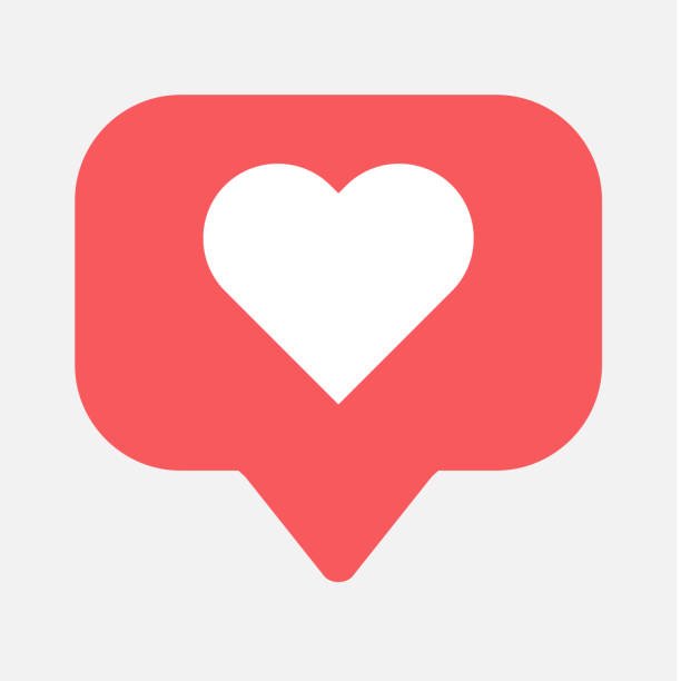 counter, follower notification symbol instagram. buton for social media - instagram stock illustrations
