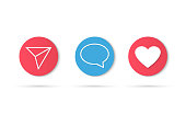 Counter Notification Icon Instagram. Follower Inst. New Icon like. Social media like insta ui, app, iphone. Vector illustration
