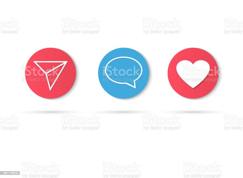Contador de Instagram de icono de notificación. Seguidor de inst. Nuevo icono como. Los medios sociales como IU insta, app, iphone. Ilustración de vector - ilustración de arte vectorial