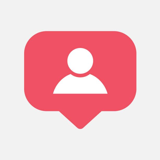 counter,friend request quantity follower notification symbol instagram. buton for social media - instagram stock illustrations