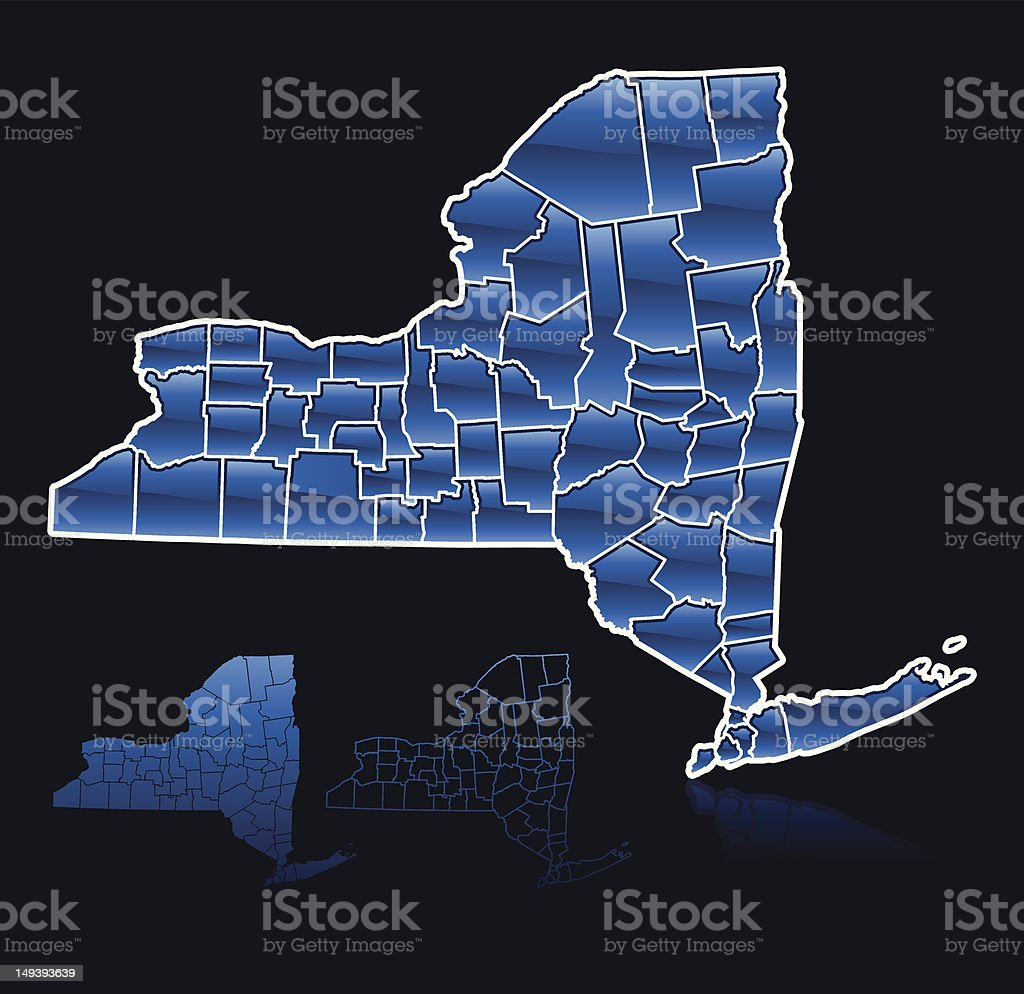 Counties of New York royalty-free stock vector art