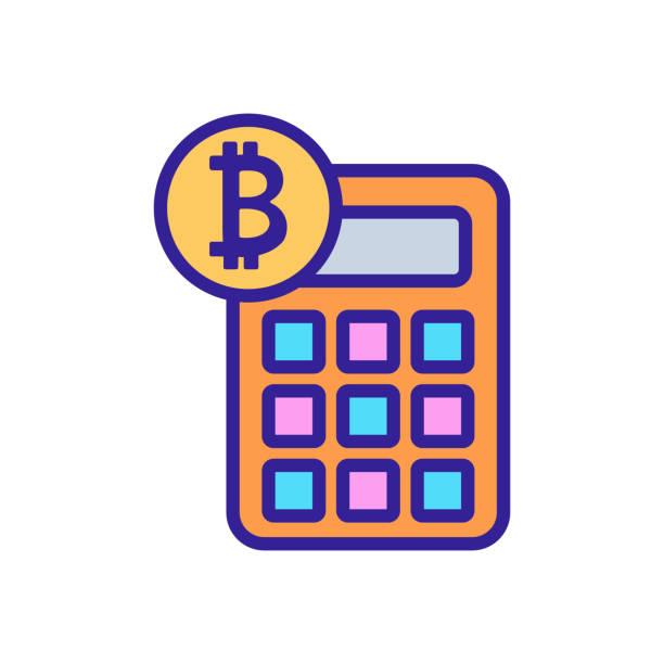 stockillustraties, clipart, cartoons en iconen met bitcoin-pictogramvector tellen. geïsoleerde illustratie van het contoursymbool - thaise munt