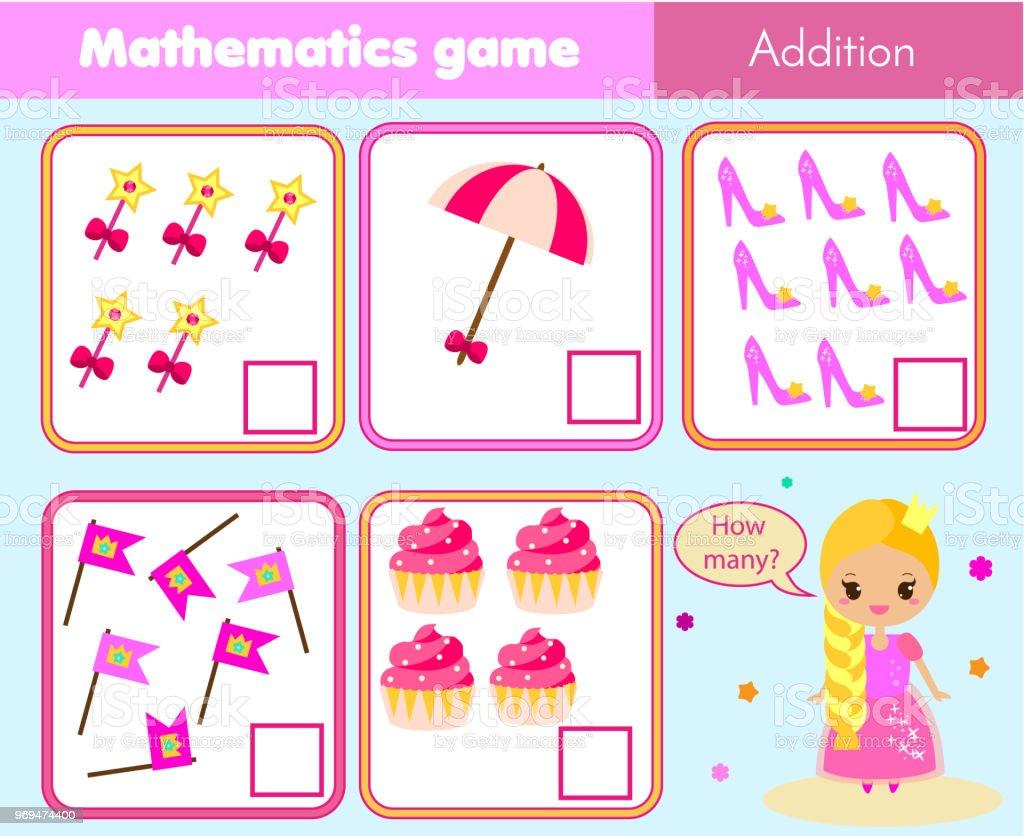 Vetores De Contando O Jogo Educacional De Criancas Matematica