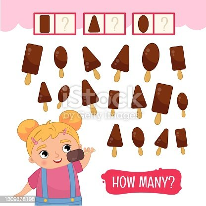 istock Counting educational children game 1309378198