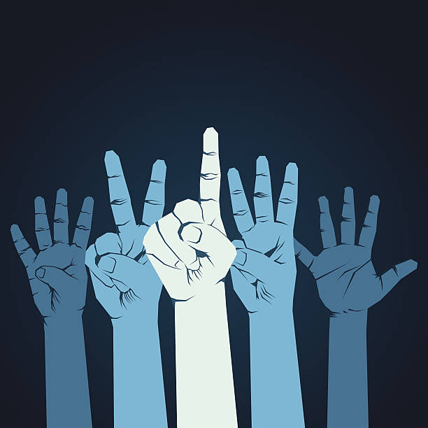 counting  finger counting finger one to five background vector counting stock illustrations