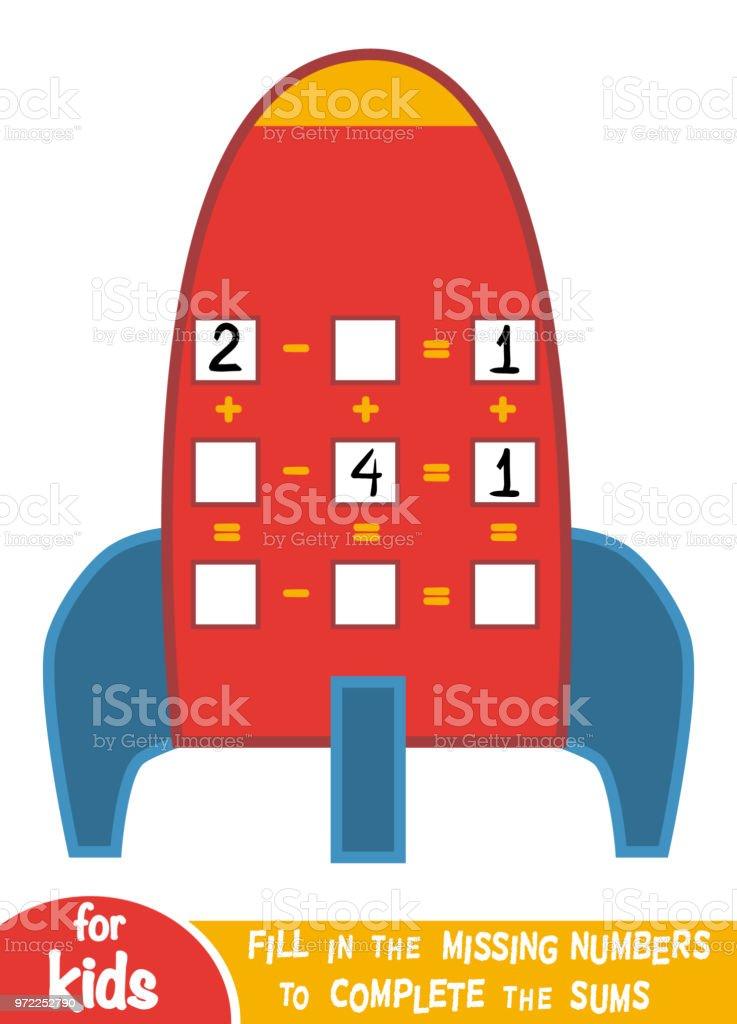 Zählen Spiel Für Kinder Educational Ein Mathematisches Spiel ...