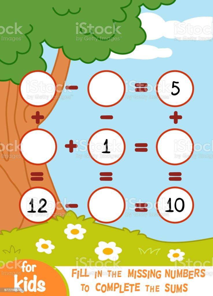Spiel Für Kinder Im Vorschulalter Zu Zählen Addition Und Subtraktion ...