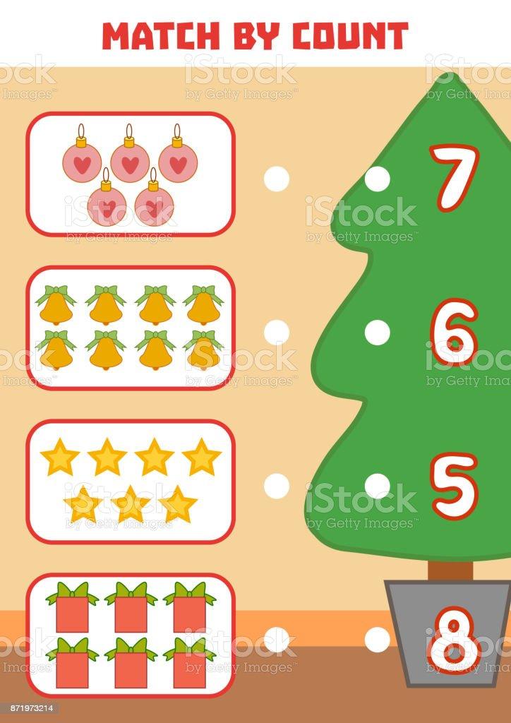Ilustracion De Cuenta De Juego Para Ninos En Edad Preescolar Navidad