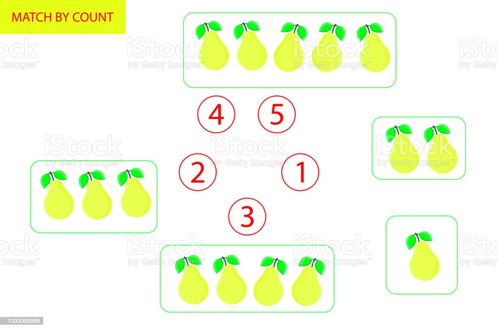 Counting Game For Preschool Children Mathematics Task How Many ...