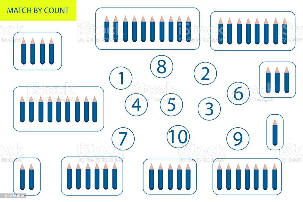 Spiel Für Kinder Im Vorschulalter Zu Zählen Mathematikaufgabe Wie ...
