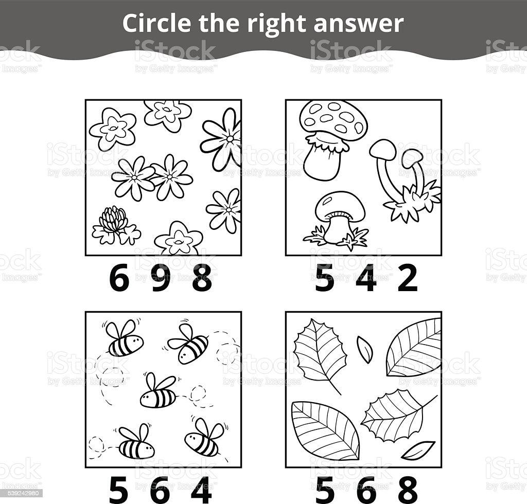 Contando jogo para crianças pequenas, crianças ilustração de contando jogo para crianças pequenas crianças e mais banco de imagens de abelha royalty-free